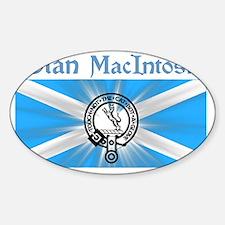 macintosh-shirt-001a1a Sticker (Oval)