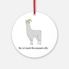 Llamas-D7-WhiteApparel Round Ornament
