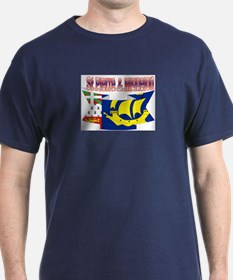 Saint-Pierre and Miquelon flag ribbon T-Shirt