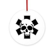 skull_star_final Round Ornament