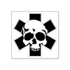 "skull_star_final Square Sticker 3"" x 3"""