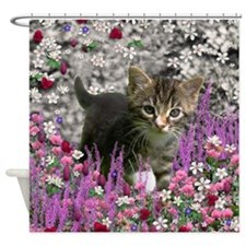 Emma in Flowers I Shower Curtain