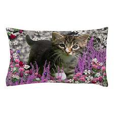 Emma Gray Tabby Kitten Pillow Case