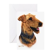 Airedale Head Greeting Card