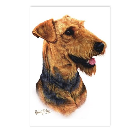 Airedale Head Postcards (Package of 8)