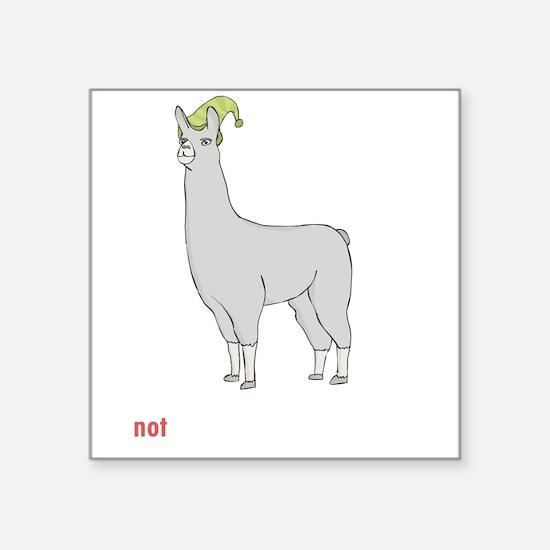 "Llamas-D7-BlackApparel Square Sticker 3"" x 3"""