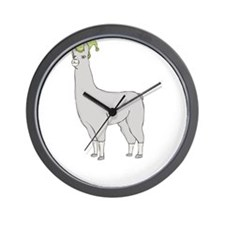 Llamas-D7-BlackApparel Wall Clock
