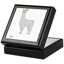 Llamas-D7-BlackApparel Keepsake Box