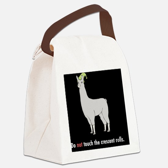 Llamas-D7-Buttons Canvas Lunch Bag