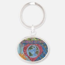 Love Your Mother Oval Keychain