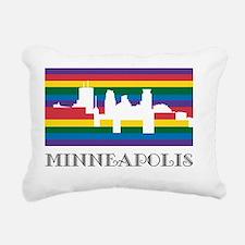Rainbow Minneapolis Rectangular Canvas Pillow