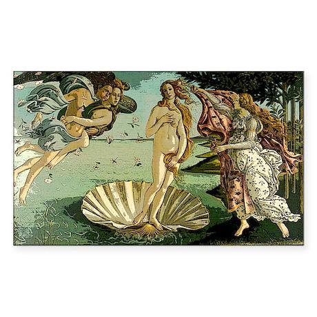 Botticelli Birth of Venus.post Sticker (Rectangle)