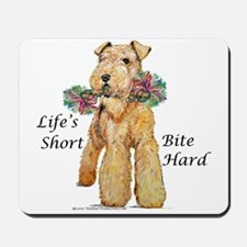 Bite Hard Lakeland Terrier Mousepad