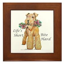 Bite Hard Lakeland Terrier Framed Tile