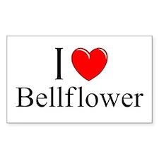 """""""I Love Bellflower"""" Rectangle Decal"""