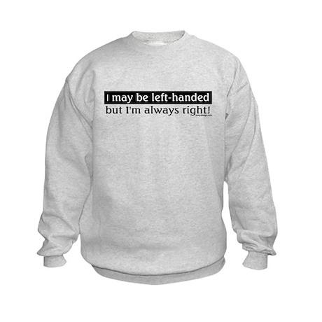 Left-Handed Kids Sweatshirt