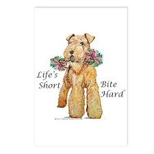 Bite Hard Lakeland Terrier Postcards (Package of 8