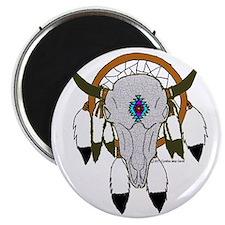 buffalo skull dreamcatcher Magnet