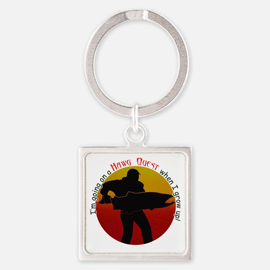 HQ logo large round grow up Square Keychain