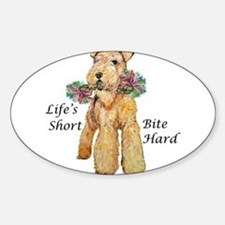 Welsh Terrier Bite! Oval Decal