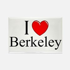 """I Love Berkeley"" Rectangle Magnet"