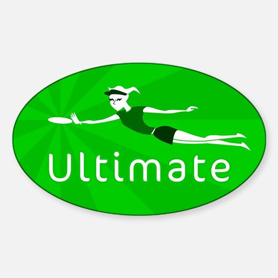 Ultimate Frisbee Oval Decal