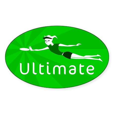 Ultimate Frisbee Oval Sticker