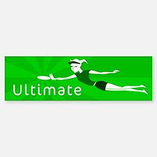 Ultimate Frisbee Bumper Bumper Bumper Sticker