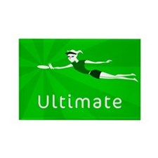 Ultimate Frisbee Rectangle Magnet (100 pack)