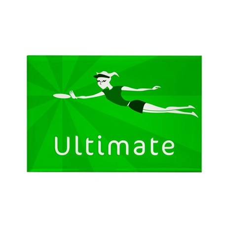 Ultimate Frisbee Rectangle Magnet