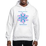 Blue/Pink Feet Refexology Hooded Sweatshirt