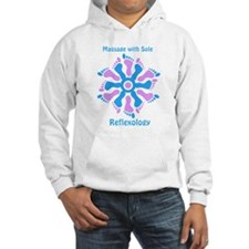 Blue/Pink Feet Refexology Hoodie