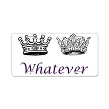 royalweddingwhatever Aluminum License Plate