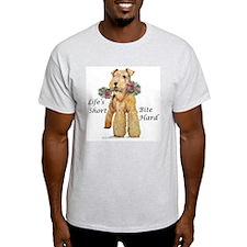 Welsh Terrier Bite! Ash Grey T-Shirt