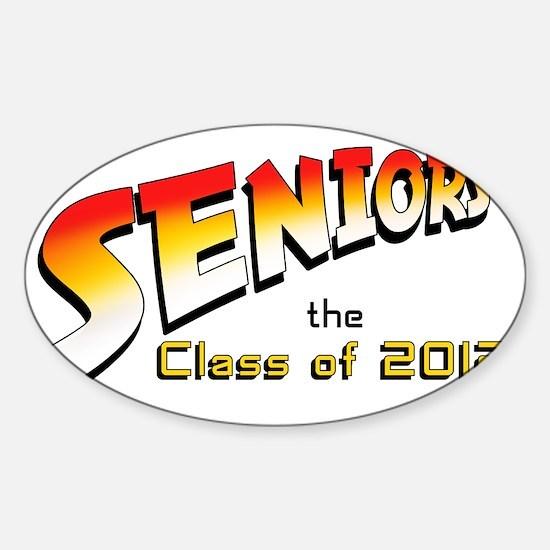 seniors-Indy-2012 Sticker (Oval)