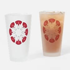 Schwinn Flower - Red Drinking Glass