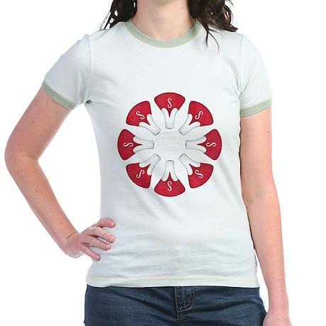 Schwinn Flower - Red Jr. Ringer T-Shirt