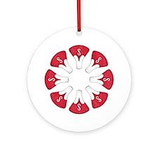 Schwinn Flower - Red Round Ornament