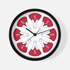 Schwinn Flower - Red Wall Clock