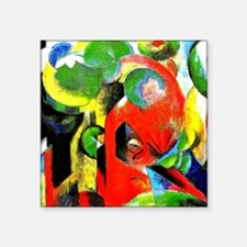 "Franz Marc - Small Composit Square Sticker 3"" x 3"""