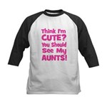 Think I'm Cute? AuntS (Plural Kids Baseball Jersey