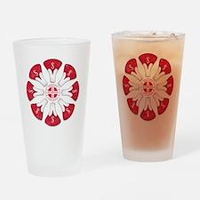 Schwinn Flower - Red 2 Drinking Glass