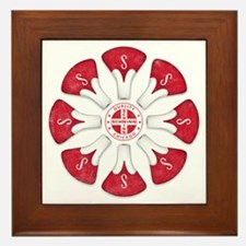 Schwinn Flower - Red 2 Framed Tile