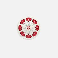 Schwinn Flower - Red 2 Mini Button