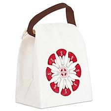 Schwinn Flower - Red 2 Canvas Lunch Bag