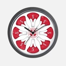 Schwinn Flower - Red 2 Wall Clock