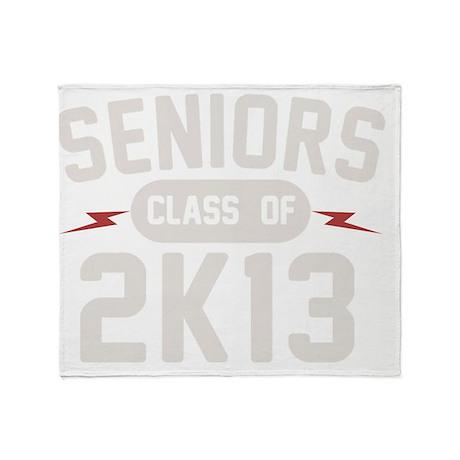 seniors-2K13-wht Throw Blanket
