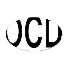 ocd Oval Car Magnet