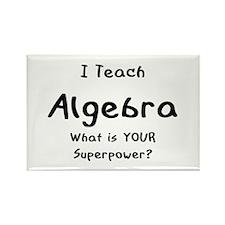 teach algebra Rectangle Magnet