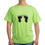 Toes Spelling Reflexology Green T-Shirt